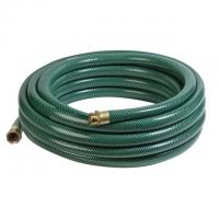 Quality green PVC 3-layers braided uv resistant garden hose with yellow ray for sale