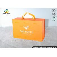 Quality Luxury Cardboard Jewelry Gift Boxes Customized Size With Ribbon Handles for sale