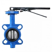 Quality GGG40 EPDM Seal Center Line Wafer Butterfly Valve Lever Operator for sale