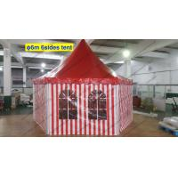 Quality Six Sides Red And White PVC Cover Outdoor Pagoda Marquee With Transparent Windows for sale