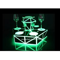 China Battery Powered LED Light Up Bar Shelf Liquor Bottle Display With Acrylic Material on sale