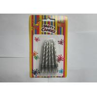 China 2.36 IN Silver Smokeless Dripless Pillar Candles For Wedding / Birthday on sale
