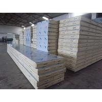 China Quake Proof PU PVC Polyurethane Metal Building Wall Panels With Stainless Steel on sale