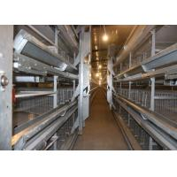 Quality 192 Birds 3 Tiers Galvanized H Type Layer Chicken Cage for sale