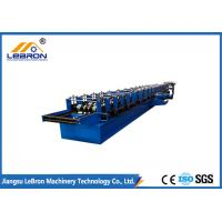 China Blue Color Gutter Roll Forming Machine , PLC Control Seamless Gutter Equipment on sale