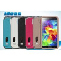 Buy cheap Handcraft Samsung Galaxy Leather Wallet Cases , Flip PU Phone Cover from wholesalers