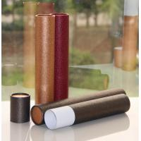 Quality Classical Leather Surface Cardboard Paper Cans Packaging with SGS Certification for sale
