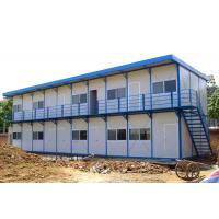 China Rigid Durable Steel Frame Prefab Homes Fast Erection With Sandwich Panels on sale