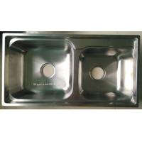 Quality Big ans Small Bowl Stainless Steel Kitchen Sink WY-7540D for sale