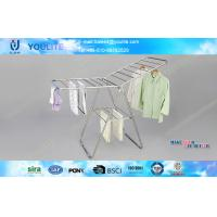 China Stand Steel Metal Pipe Portable Clothes Hanger Rack for Bedroom and Garden Use on sale
