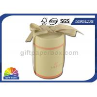 Best Fancy Gift Paper Packaging Tube with Ribbon , Cylinder Round Paper Box SGS wholesale