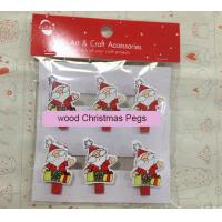 Best Novelty Father Christmas Pegs Pack of 6 gift wood pegs wholesale