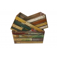 China Decorative 49x35x25cm Set 3 Reclaimed Wood Crate on sale