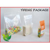 Quality Quad Seal Flat Bottom Pouch With Pocket Zipper For Seed Corn Packaging for sale