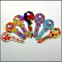 Buy Attractive UL050 KW1 SC1 Custom House Key Blanks With Flower Theme Printed at wholesale prices