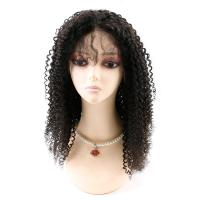 Buy Kinky Curly Front Lace Wigs , Lace Front Full Wigs Human Hair 8A Grade at wholesale prices