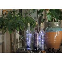 Quality battery operated glass wine bottle with led lights party decor gift or night light for sale