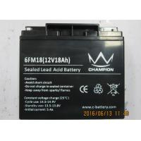 Quality 12V 18AH Uninterruptible Power Supply Battery , Lead Acid Storage Battery for sale