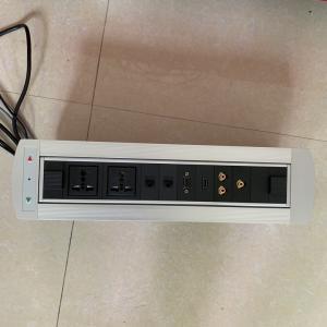 China Desktop Socket Flip Up Power Outlet / Electrical Plug Socket For Conference Room on sale