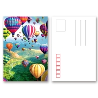 Quality 0.6mm PET 3D Lenticular Postcard / 3d Animation Picture With CMYK Printing for sale