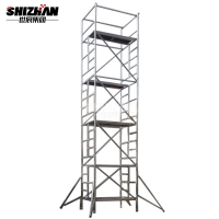 Quality Easy Install Mobile Aluminium Mobile Scaffolding Tower 3D Model for sale