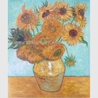 Buy cheap Hand Painted Van Gogh Oil Reproduction, Vincent Sunflowers Still Life Oil from wholesalers
