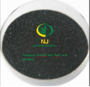 China NJ organic fertilizer  - Humic acid fertilizer Potassium Humate with fulvic acid 80 Flakes High water solubility on sale