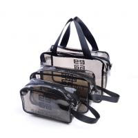 Quality Cosmetic/ Makeup/ Toiletry Clear PVC Travel Wash Bag with handle for sale