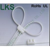 China Handcuffs Type Nylon Cable Tie Orgainzer White Color Low Smoke No Sharp on sale