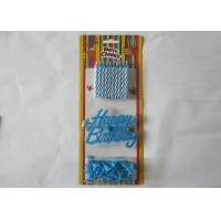 Quality Blue Spiral Birthday Candles Paraffin Craft Candle No Smoke for Festivals for sale