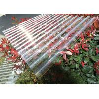 Quality Thick Corrugated Perspex Roofing Sheets / Corrugated Polycarbonate Roof Panel for sale