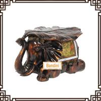 Buy cheap Imitation wood like colour elephant stool home decor wedding gift resin FG065AM from wholesalers