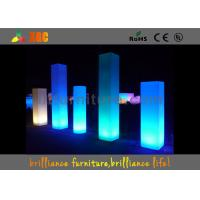Best 16 Colors Wedding Event LED Pillars Plastic With Remote Control wholesale