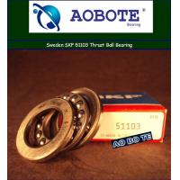 Quality Single Row Thrust Ball Bearing For Crane Hook , Swden SKF 51103 for sale