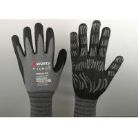 Quality Micro Foam Insulated Nitrile Gloves , Nitrile Dipped Gloves Raised Grain Pattern for sale