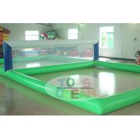 China Transparent Rectangle Inflatable Water Toys For Volley Sport 0.9MM PVC on sale