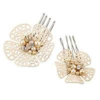 Best Custom Color Filigree Tin Alloy Jeweled Hair Accessories Clamps, hair combs for girls wholesale