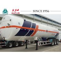 China Durable 3 Axle LNG Tank Trailer Vacuum Insulation Type 30-60 M³ Capacity on sale
