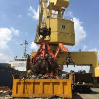 Quality 2m3 metal scrap handling Electro hydraulic orange peel scrap grab bucket for sale