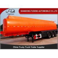 Flammable Fuel Tanker Truck 25000 L , Fuel Tank Trailer  With 3 Compartments