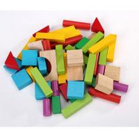 Best 50pcs Wood Building Block Set with Carrying Bag colored wooden blocks small size wholesale
