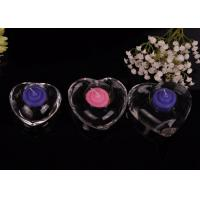 Best High White Transparent glass tealight candle holders for wedding centerpieces , Heart Shape wholesale