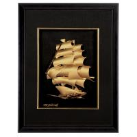 Buy Realistic 3D gold foil music Sailing frame / gold foil crafts home decoration at wholesale prices