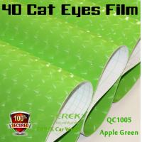 Quality 4D Cat Eyes Car Wrapping Vinyl Films - Apple Green for sale