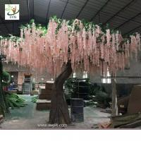 Best UVG WIS007 6m pink huge silk wisteria blossom fake trees for weddings wholesale
