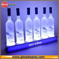Customize Acrylic LED Lighted Liquor Bottle Shelf for displaying brand or promoting product