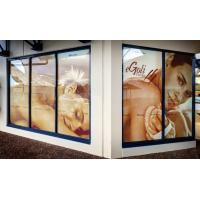 China Full Color Printing Custom Waterproof Stickers For Window / Glass Pvc Backlit Film on sale
