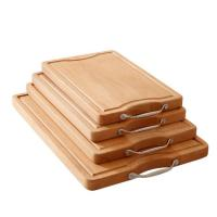 Quality Beech block bamboo chopping cutting board with stainless steel handle for sale