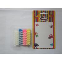 Quality 24 Pcs Twisted Birthday Candles Mix Color No Smoking Wax 19g Regular Candle for sale