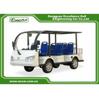 Quality EXCAR 8 Seater Electric Sightseeing Car , 72V 7.5KW Trojan Battery Tour Bus for sale